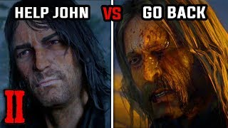 Help John Get to Safety vs Return for the Money (All Choices & Endings) - Red Dead Redemption 2