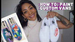 HOW TO: Paint Custom Vans | Little Mermaid Vans // WhitneyEstherFineArt