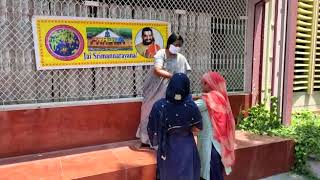 COVID 19-Distributed dry ration to the stranded migrant workers in Narsapur