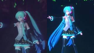 「Rolling Girl」 SNOW MIKU LIVE! 2018/2019 Comparison