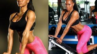 Eboney Chapman IFBB Pro Fitness Model shredded and toned body for bikini girls
