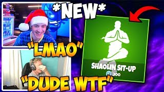 "STREAMERS REACT TO *NEW* ""SHAOLIN SIT-UP"" EMOTE!! 