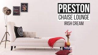 Chaise Lounge : Buy Preston Chaise Lounge (Irish Cream) Online @ Reasonable Price - Wooden Street
