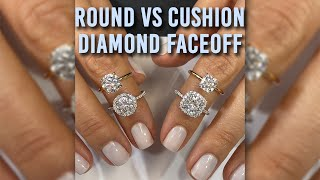 Diamond Face-Off Cushion VS Round Diamonds: Lauren B IGTV Series