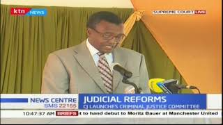 CJ David Maraga's speech during the official launch of the criminal justice committee