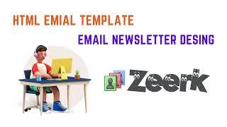 Responsive Mailchimp HTML email template design, email newsletter design, Email Marketing