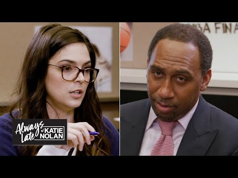 Katie Nolan quizzes Stephen A., Jalen Rose and more on the NBA Finals   Always Late with Katie Nolan