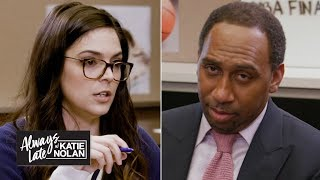 Katie Nolan quizzes Stephen A. & Jalen Rose on the NBA Finals | Always Late with Katie Nolan