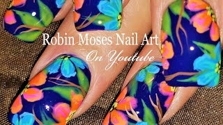 Spring Flower Nails | DIY Neon Flower Nail Art Design Tutorial