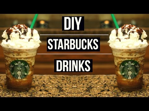 Video DIY Starbucks Drinks | Smore's, Cookie Crumble, Java Chip Fraps!