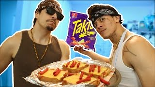 NEW VIDEO LIL ESE's COOKING CON EL MAS CHINGON TAKIS PIZZA