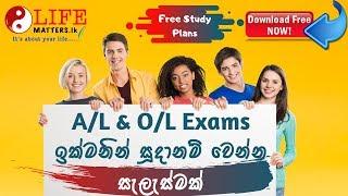 පාඩම් කරන හැටි - Special Study Guide for A/L and O/L Students with FREE Study Plans