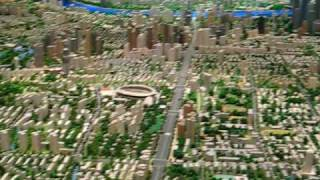 preview picture of video 'China, Shanghai, Model of City'