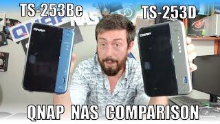 QNAP TS-253D vs TS-253Be NAS Drive Comparison