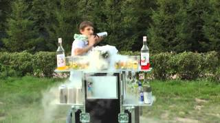 Детское бармен шоу,Анатолий Павлов, пирамиды из шампанского,бармен шоу,выездной коктейль бар