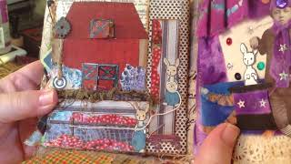 Junk Journal In Altered Cigar Box.  Bunny, The Early Years!