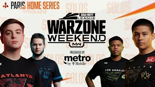 SURVIVAL OF THE FITTEST (SOLOS) — PRO WARZONE CUSTOM LOBBY | Warzone Weekend #3 | Paris Home Series