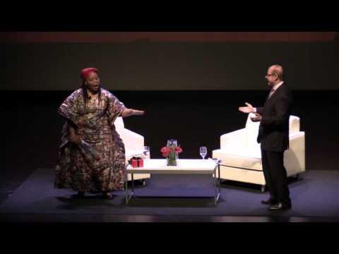 Leymah Gbowee & President Aoun Dancing