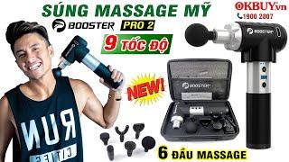 Video Review súng massage giãn cơ cao cấp từ Mỹ Booster PRO 2 chính hãng có gì hot