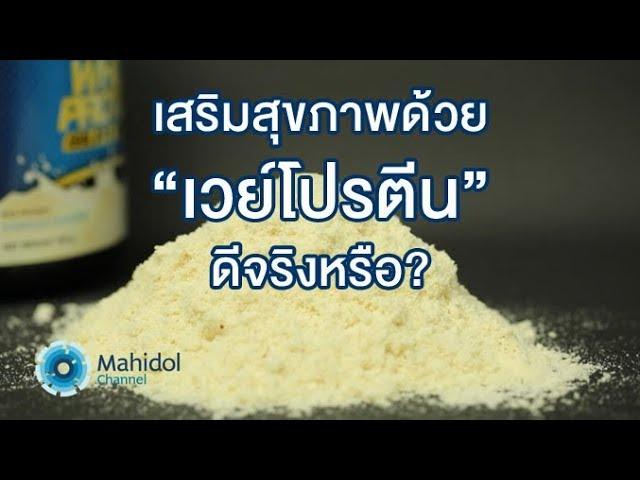 """เสริมสุขภาพด้วย """"เวย์โปรตีน"""" ดีจริงหรือ? : คลิป MU [by Mahidol]"""