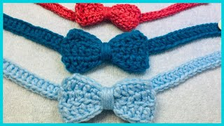 CROCHET INFANT BOW TIE | QUICK & EASY