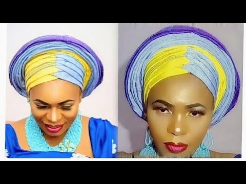 HOW TO TIE DOUBLE ZIG ZAG GELE/TUTORIAL.