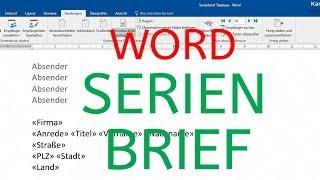 Serienbrief In Word 2016 Erstellen Verschicken In 5 Minuten