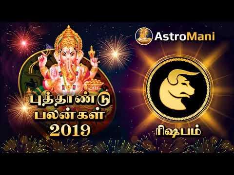 ரிஷபம் ராசி 2019 புத்தாண்டு பலன்கள் | Rishaba  Rasi 2019 New Year Rasi Palan | Astro Mani