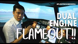 ( FLIGHT SIMULATOR ) DUAL ENGINE FAILURE By Captain Vincent Raditya ( BATIK AIR )   TANYA PILOT
