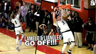 LaMelo Ball TRIPLE DOUBLE + LiAngelo Ball 52 & DUNK! Chino Hills State Playoffs Opener vs Birmingham