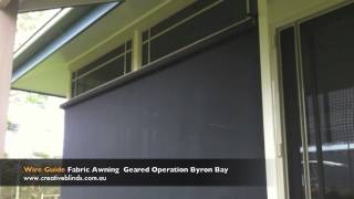 Wire Guide Awning  Sunscreen Mesh Fabric Byron Shire