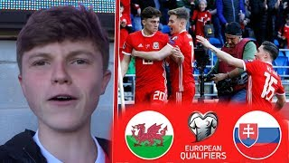 JAMES GOAL!! - WALES 1-0 SLOVAKIA - EURO 2020 Qualifiers - 24TH MARCH 2019