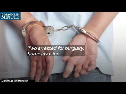 Two arrested for burglary, home invasion
