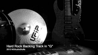 Hard Rock backing track in G
