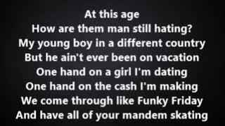 Funky Friday By Dave Ft. Fredo Lyrics