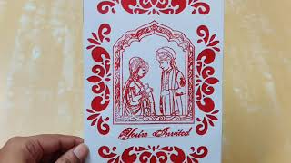 HANDMADE Indian Wedding Invitation Card | Happy Mahashivratri 2020
