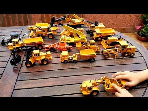 juguetes obra joal excavadora camión grua. kids toys caterpillar construction bulldozer trucks crane
