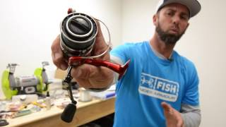 How to Spool a Spinning Reel (Ike in the Shop)