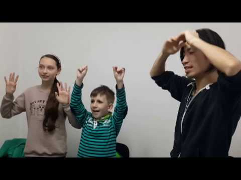 This is the video when my students are playing Hands-Up game.