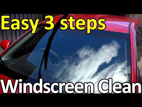 Αναλυτικές οδηγίες για το καθάρισμα των τζαμιών του αυτοκινήτου