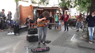 Wojtek Gasiorowski shows off his incredible bass playing