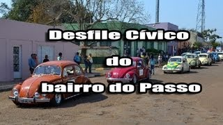 preview picture of video 'São Borja Fusca Clube - Desfile Cívico Bairro do Passo + Ida ao Posto.'