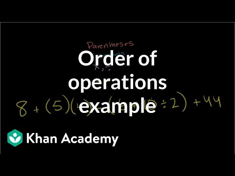 new arrival e3030 8b7ca Order of operations example (video)   Khan Academy