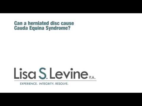 Can a herniated disc cause Cauda Equina syndrome?