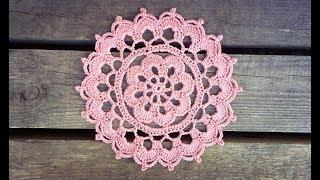 Crochet Flower Summer Haze Doily Tutorial Easy For Beginners
