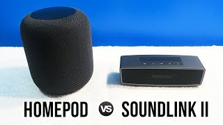Apple HomePod vs Bose Soundlink Mini II • Sound Comparison!