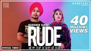 Rude | Gussa Tera | Harinder Samra | Nisha Bhatt | Dreamboy | new latest punjabi song 2019