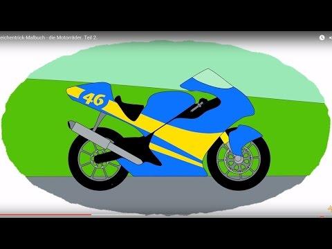 Zeichentrick-Malbuch - die Motorräder. Teil 2.
