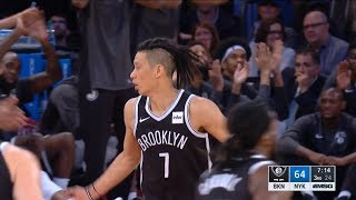 Jeremy Lin D'Angelo Russell Highlights - 10/3/17 Nets at Knicks