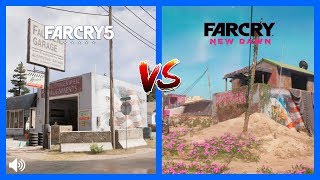 Far Cry New Dawn vs Far Cry 5 Map Comparison Side by Side